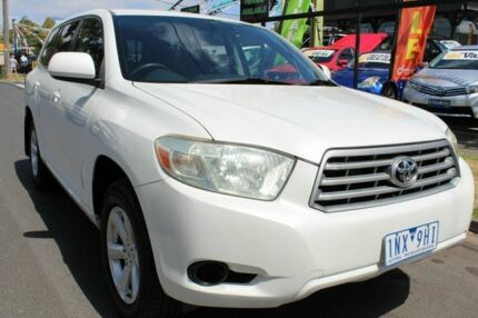 2009 Toyota Kluger GSU40R KX-R 2WD White 5 Speed Sports Automatic Wagon West Footscray Maribyrnong Area Preview