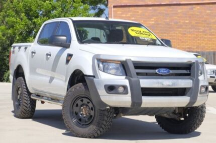 2014 Ford Ranger PX XL Double Cab White 6 Speed Sports Automatic Utility Toowoomba Toowoomba City Preview