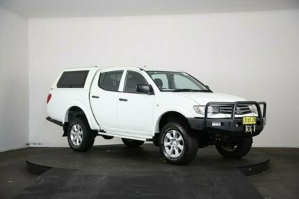 2014 Mitsubishi Triton MN MY14 Update GLX (4x4) White 5 Speed Manual 4x4 Double Cab Utility McGraths Hill Hawkesbury Area Preview