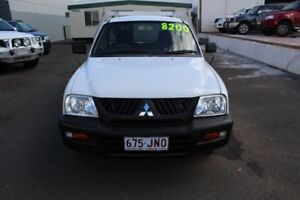 2005 Mitsubishi Triton MK MY05 GL White 5 Speed Manual Cab Chassis