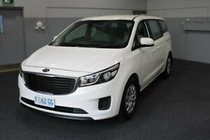 2016 Kia Carnival YP MY16 S White 6 Speed Sports Automatic Wagon Glenorchy Glenorchy Area Preview