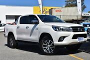 2018 Toyota Hilux GUN126R SR5 Double Cab Crystal Pearl 6 Speed Sports Automatic Utility Claremont Nedlands Area Preview