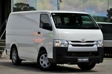 2014 Toyota Hiace KDH201R MY14 LWB White 4 Speed Automatic Van Old Guildford Fairfield Area Preview