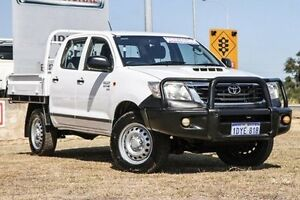 2012 Toyota Hilux KUN26R MY12 SR Double Cab White 5 Speed Manual Cab Chassis Bibra Lake Cockburn Area Preview