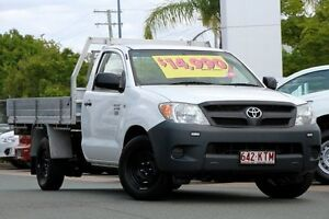 2008 Toyota Hilux TGN16R MY08 Workmate Super White 5 Speed Manual Utility Springwood Logan Area Preview