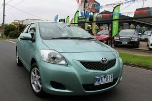 2008 Toyota Yaris NCP93R YRS Green 5 Speed Manual Sedan West Footscray Maribyrnong Area Preview