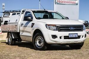 2015 Ford Ranger PX XL 4x2 White 6 Speed Manual Cab Chassis Bibra Lake Cockburn Area Preview