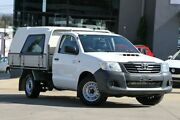 2013 Toyota Hilux KUN16R MY12 Workmate 4x2 White 5 Speed Manual Cab Chassis Moorooka Brisbane South West Preview