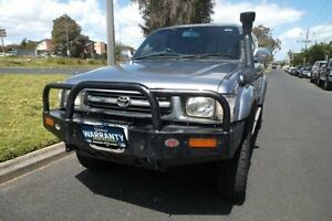 2001 Toyota Hilux KZN165R SR5 (4x4) Grey 5 Speed Manual 4x4 Dual Cab Pick-up Melbourne CBD Melbourne City Preview