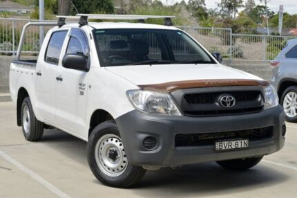 2011 Toyota Hilux TGN16R MY10 Workmate White 4 Speed Automatic Cab Chassis Lisarow Gosford Area Preview