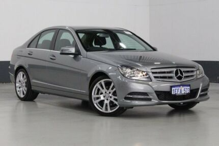 2013 Mercedes-Benz C250 W204 MY12 Elegance BE Palladium Silver 7 Speed Automatic G-Tronic Sedan Bentley Canning Area Preview