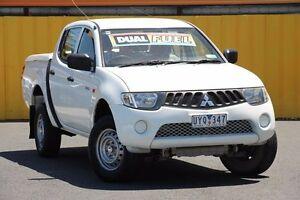 2007 Mitsubishi Triton ML MY08 GLX Double Cab Arctic White 5 Speed Manual Utility Heatherton Kingston Area Preview