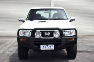 2012 Nissan Patrol Y61 GU 8 DX White 5 Speed Manual Wagon