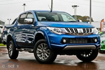2015 Mitsubishi Triton MQ MY16 Exceed (4x4) Impulse Blue 5 Speed Automatic Dual Cab Utility Mount Gravatt Brisbane South East Preview