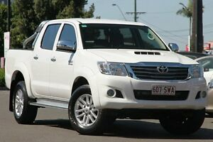 2012 Toyota Hilux KUN26R MY12 SR5 Double Cab White 4 Speed Automatic Utility Macgregor Brisbane South West Preview