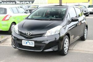 2014 Toyota Yaris NCP131R YRS Black 4 Speed Automatic Hatchback Heatherton Kingston Area Preview