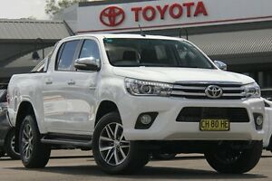 2016 Toyota Hilux GUN126R SR5 Double Cab Glacier White 6 Speed Manual Utility Windsor Hawkesbury Area Preview