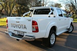 2012 Toyota Hilux KUN26R MY12 SR5 Double Cab White 5 Speed Manual Utility Nailsworth Prospect Area Preview