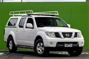 2010 Nissan Navara D40 RX White 5 Speed Automatic Utility Ringwood East Maroondah Area Preview