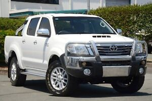 2012 Toyota Hilux KUN26R MY12 SR5 Double Cab White 4 Speed Automatic Utility Acacia Ridge Brisbane South West Preview