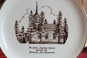 St Ann's Anglican Church, erected 1817, Westcock NB