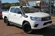 2017 Toyota Hilux GUN126R SR Double Cab Glacier White 6 Speed Sports Automatic Utility Myaree Melville Area Preview