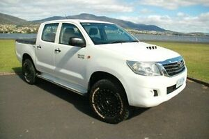 2011 Toyota Hilux KUN26R MY12 SR Double Cab White 4 Speed Automatic Utility Derwent Park Glenorchy Area Preview