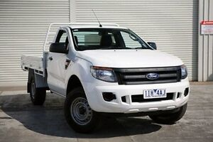 2013 Ford Ranger PX XL 4x2 Hi-Rider White 6 Speed Sports Automatic Cab Chassis Seaford Frankston Area Preview
