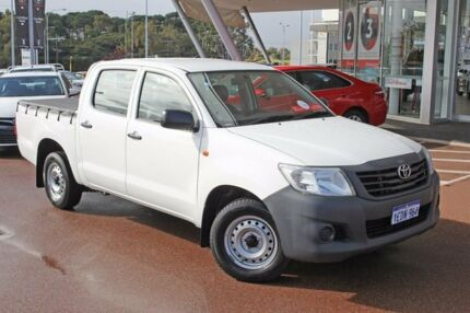 2013 Toyota Hilux TGN16R MY12 Workmate Double Cab Glacier White 4 Speed Automatic Utility