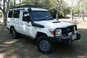 2010 Toyota Landcruiser VDJ76R MY10 Workmate French Vanilla 5 Speed Manual Wagon The Gardens Darwin City Preview
