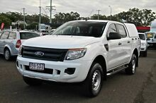 2011 Ford Ranger PX XL 4X2 Double Cab Hi-Rider White Automatic Utility Wacol Brisbane South West Preview