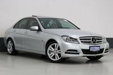 2011 Mercedes-Benz C200 W204 MY11 BE Silver 7 Speed Automatic G-Tronic Sedan Bentley Canning Area Preview