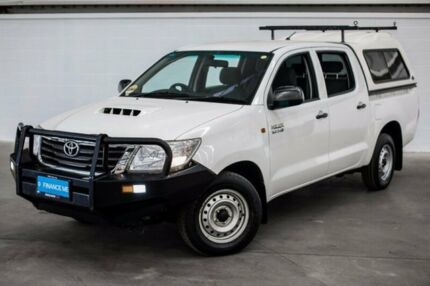 2012 Toyota Hilux KUN16R MY12 SR Double Cab White 5 Speed Manual Utility
