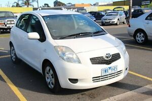 2005 Toyota Yaris NCP91R YRS White 4 Speed Automatic Hatchback Heatherton Kingston Area Preview