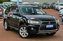 2011 Mitsubishi Outlander ZH MY11 LS 2WD Black 6 Speed Constant Variable Wagon Cannington Canning Area Preview