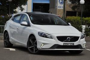 2016 Volvo V40 M MY16 T5 R-Design Ice White 8 Speed Automatic Hatchback Dee Why Manly Area Preview