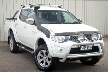 2010 Mitsubishi Triton MN MY10 GLX-R Double Cab White 5 Speed Manual Utility