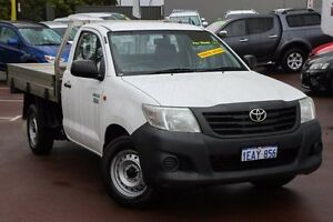 2012 Toyota Hilux TGN16R MY12 Workmate White 5 Speed Manual Cab Chassis Cannington Canning Area Preview
