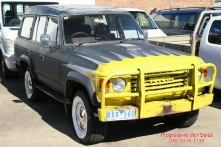 1986 Toyota Landcruiser 60 Sahara Black and Yellow Wagon