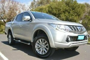 2016 Mitsubishi Triton MQ MY16 GLS Double Cab Silver 5 Speed Sports Automatic Utility Derwent Park Glenorchy Area Preview