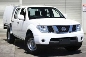 2013 Nissan Navara D40 S7 MY12 RX 4x2 White 5 Speed Automatic Utility