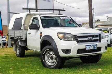 2010 Ford Ranger PK XL White 5 Speed Manual Cab Chassis Wangara Wanneroo Area Preview