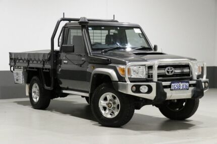 2016 Toyota Landcruiser VDJ79R MY12 Update GXL (4x4) Graphite 5 Speed Manual Cab Chassis Bentley Canning Area Preview