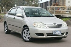 2005 Toyota Corolla ZZE122R 5Y Ascent Silver 4 Speed Automatic Sedan Docklands Melbourne City Preview