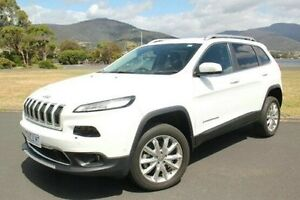 2014 Jeep Cherokee KL Limited White 9 Speed Sports Automatic Wagon Derwent Park Glenorchy Area Preview