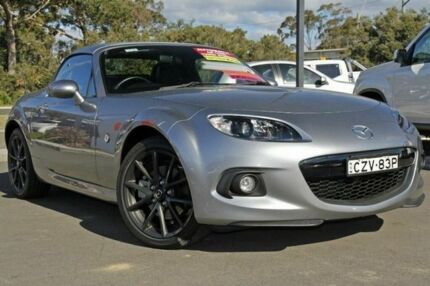 2014 Mazda MX-5 NC30F2 MY13 Roadster Coupe Silver 6 Speed Auto Seq Sportshift Convertible Gymea Sutherland Area Preview