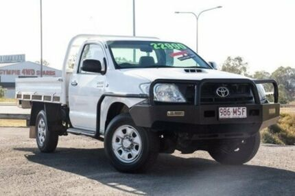 2009 Toyota Hilux KUN26R MY09 SR White 5 Speed Manual Utility