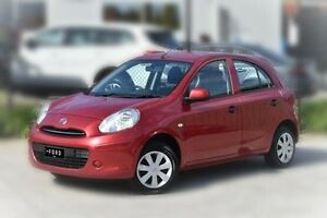2013 Nissan Micra K13 MY13 ST Red 5 Speed Manual Hatchback Berwick Casey Area Preview