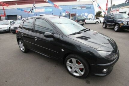 2005 Peugeot 206 T1 MY04 XR Black 4 Speed Sports Automatic Hatchback