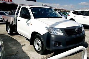2015 Toyota Hilux TGN16R MY14 Workmate Glacier White 5 Speed Manual Cab Chassis Preston Darebin Area Preview